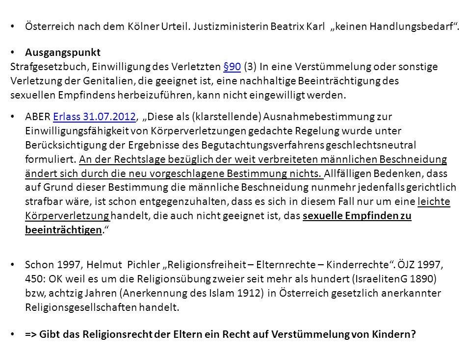 Österreich nach dem Kölner Urteil