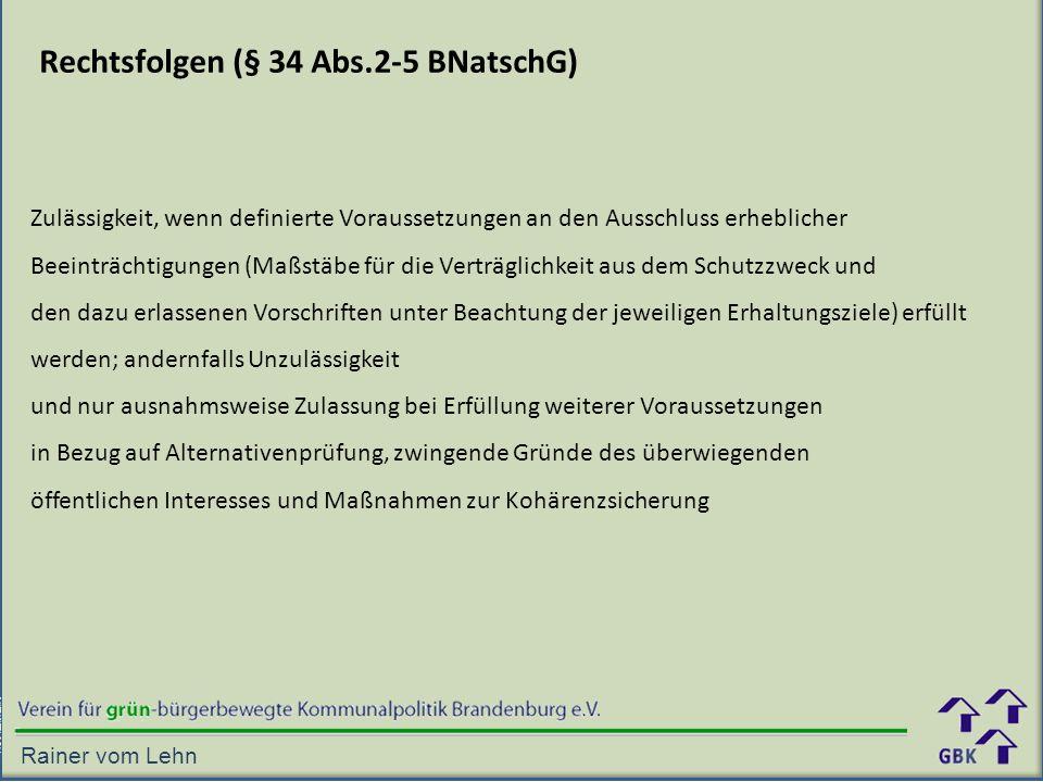 Rechtsfolgen (§ 34 Abs.2-5 BNatschG)