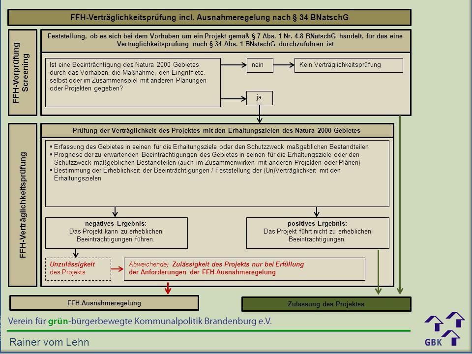FFH-Verträglichkeitsprüfung incl. Ausnahmeregelung nach § 34 BNatschG