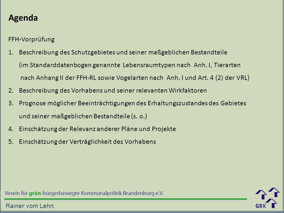Agenda FFH-Vorprüfung