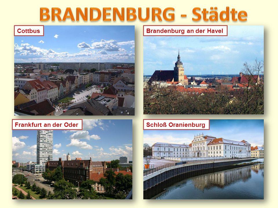 BRANDENBURG - Städte Cottbus Brandenburg an der Havel