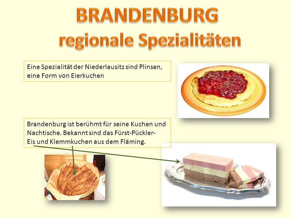 BRANDENBURG regionale Spezialitäten