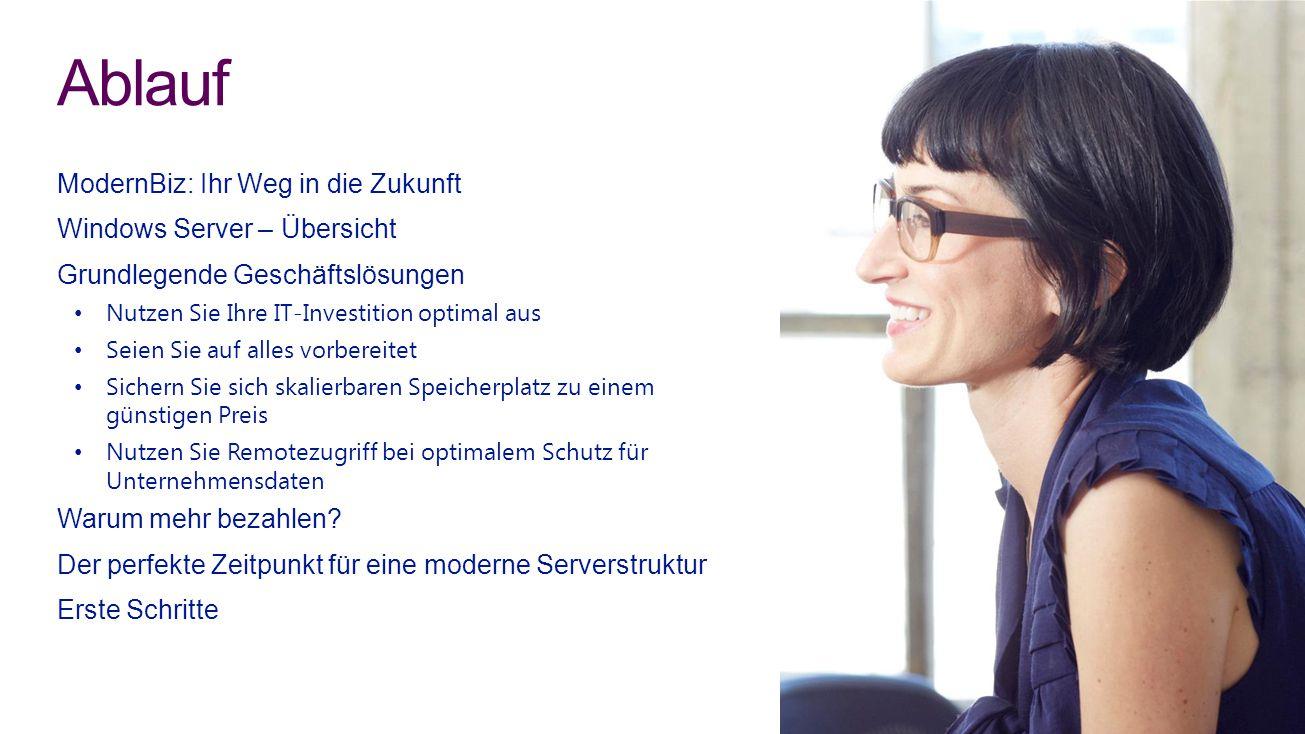 Ablauf ModernBiz: Ihr Weg in die Zukunft Windows Server – Übersicht