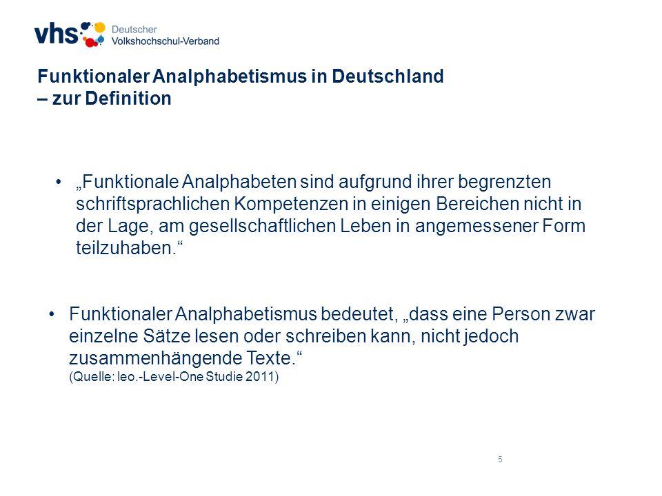 Funktionaler Analphabetismus in Deutschland – zur Definition