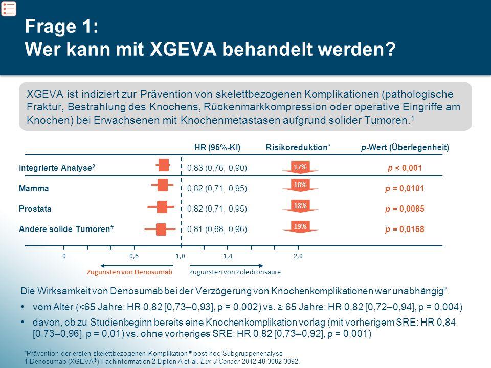 Frage 1: Wer kann mit XGEVA behandelt werden