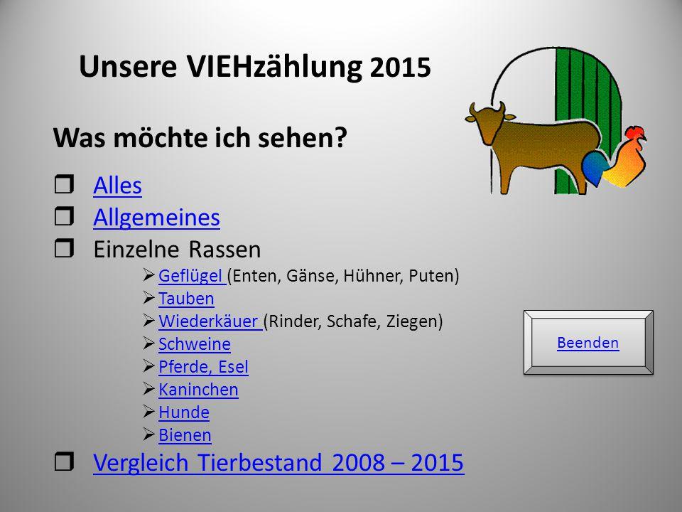 Unsere VIEHzählung 2015 Was möchte ich sehen Alles Allgemeines
