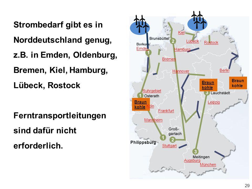 Strombedarf gibt es in Norddeutschland genug, z. B