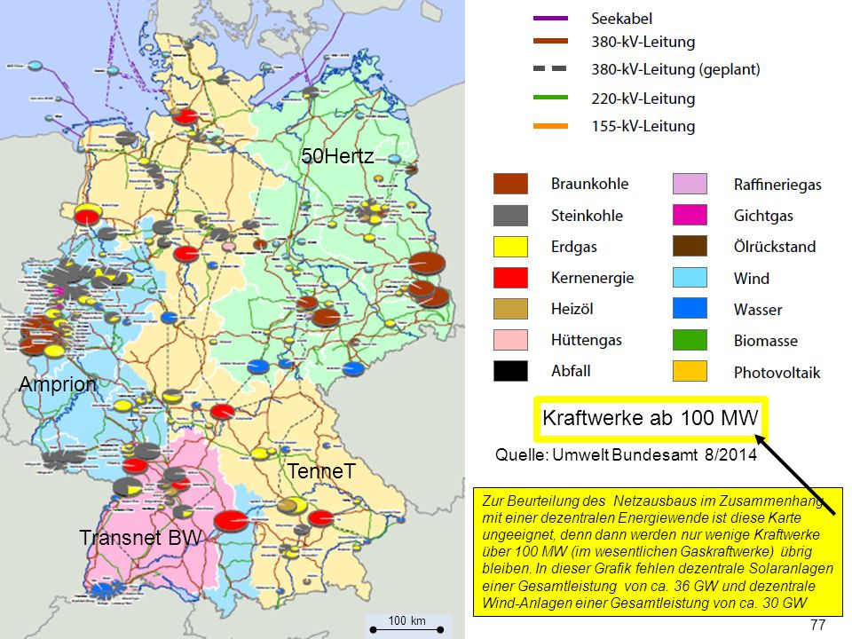 50Hertz Amprion Kraftwerke ab 100 MW TenneT Transnet BW