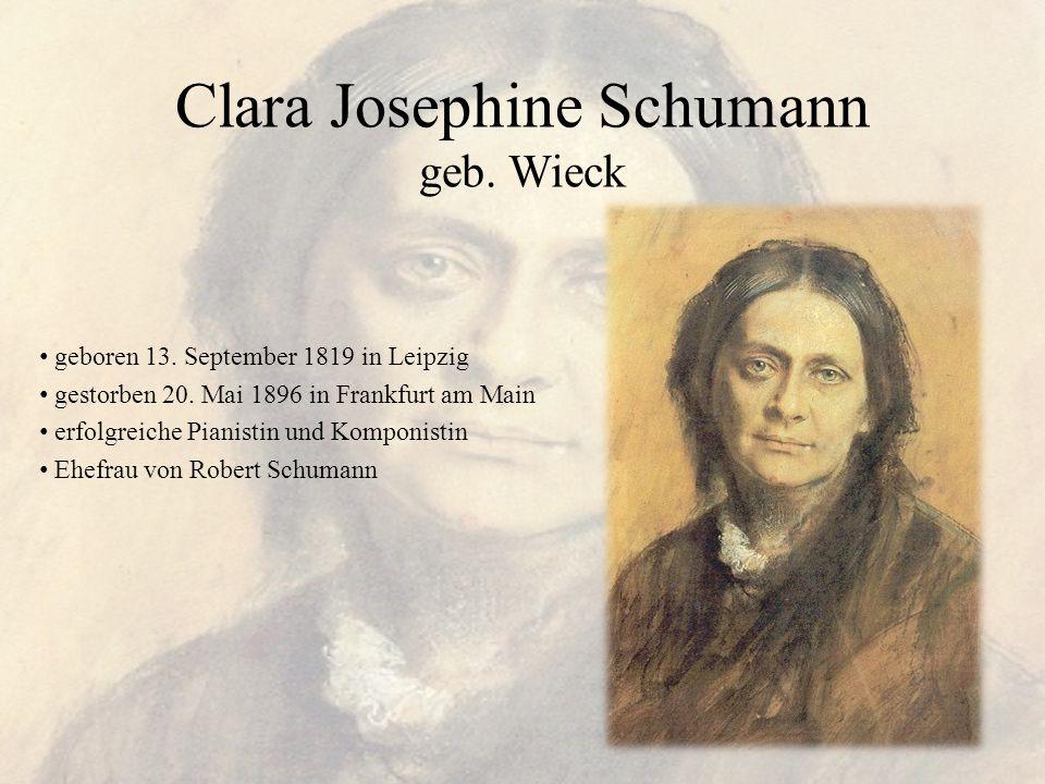 Clara Josephine Schumann geb. Wieck