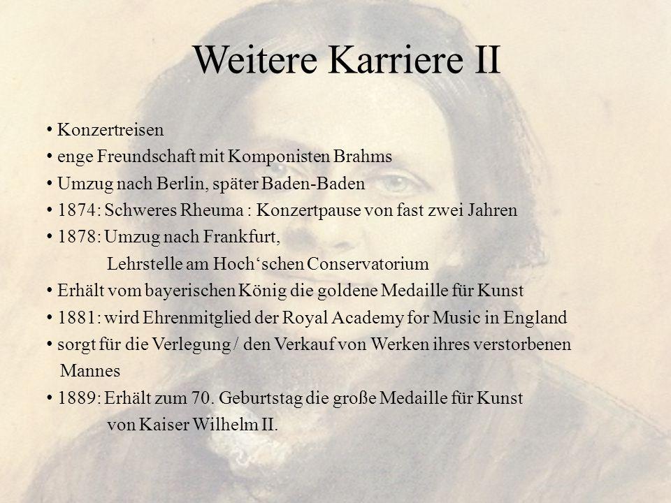 Weitere Karriere II Konzertreisen