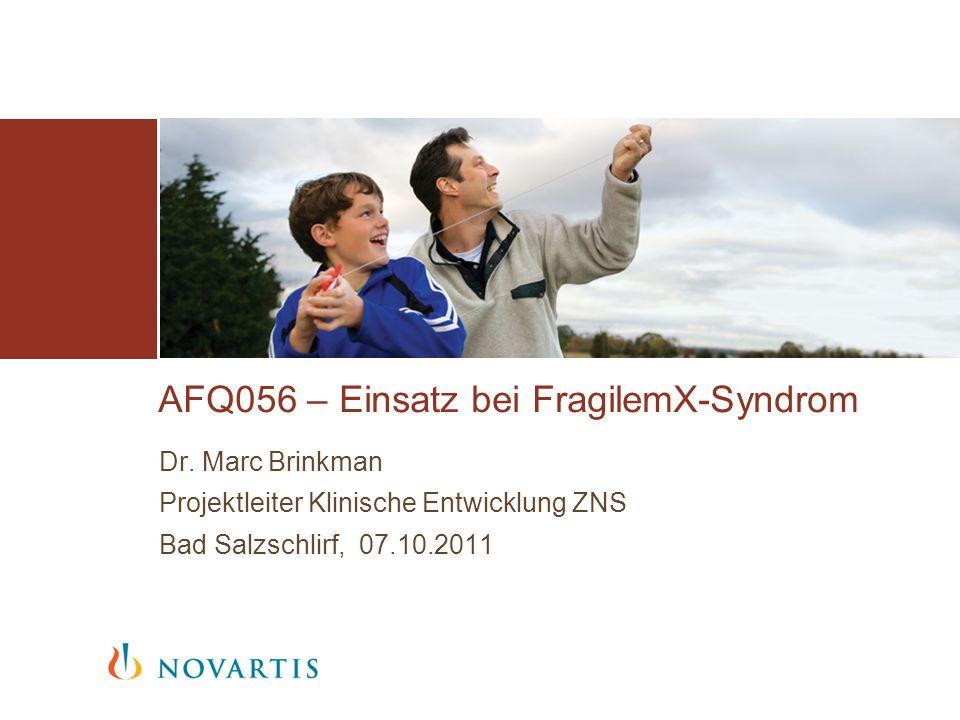 AFQ056 – Einsatz bei FragilemX-Syndrom