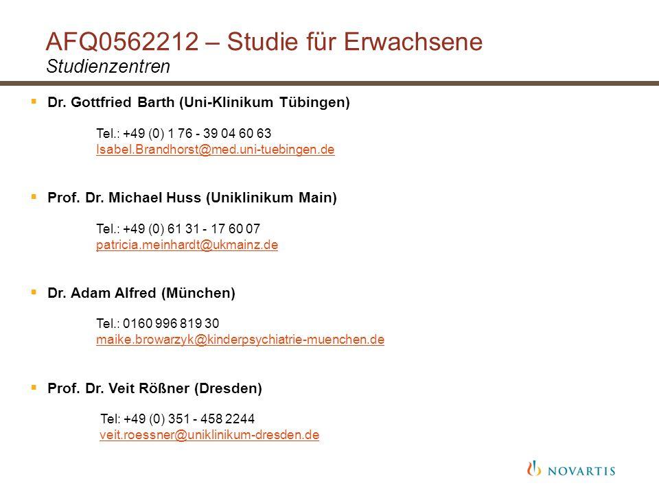 AFQ0562212 – Studie für Erwachsene Studienzentren