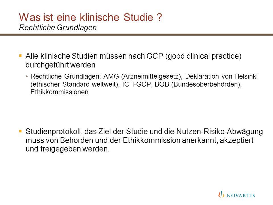 Was ist eine klinische Studie Rechtliche Grundlagen
