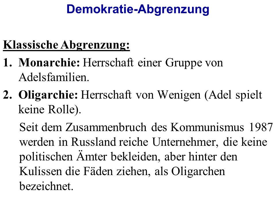 Demokratie-Abgrenzung
