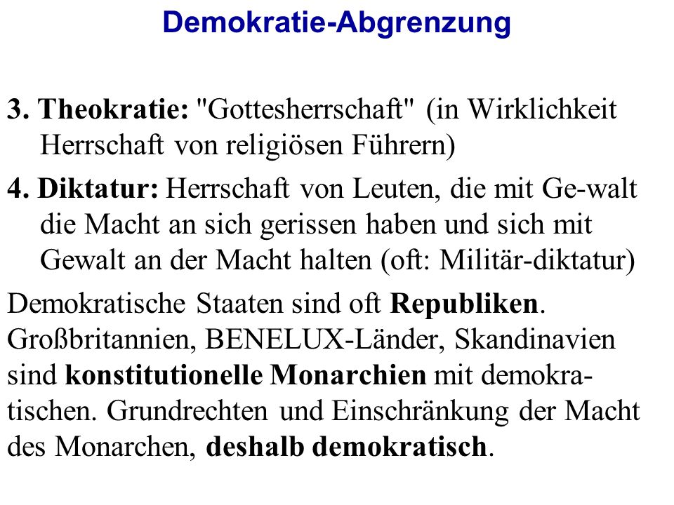 Demokratie-Abgrenzung 3