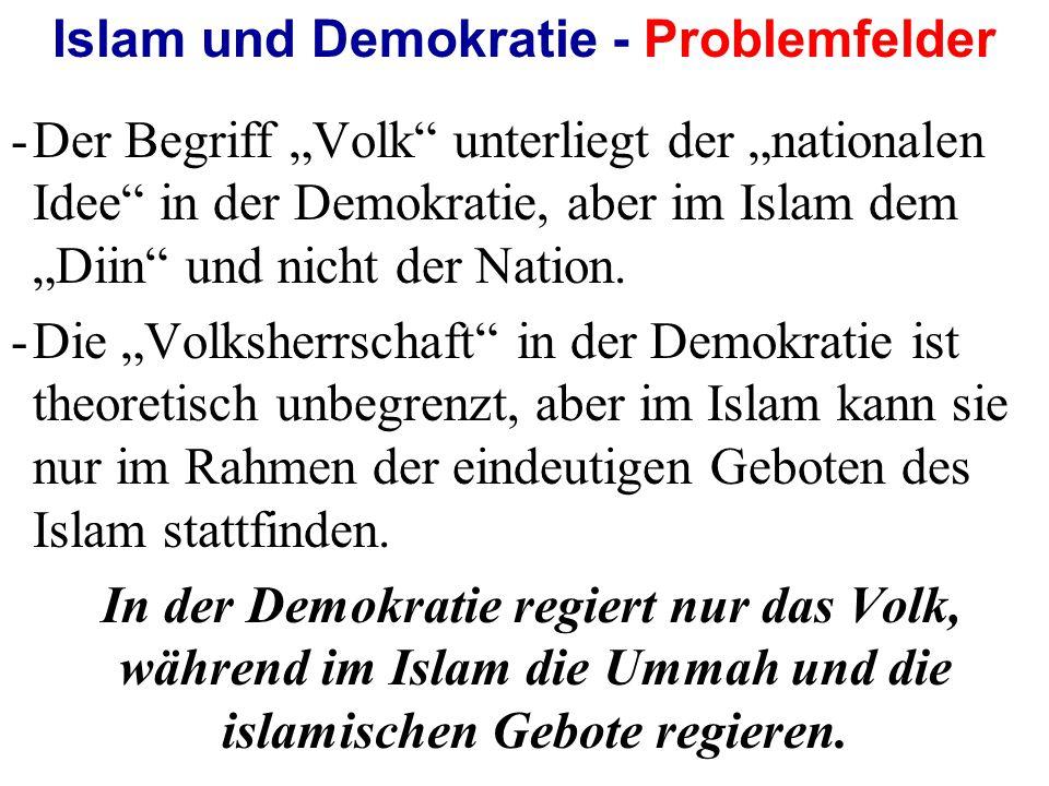 Islam und Demokratie - Problemfelder