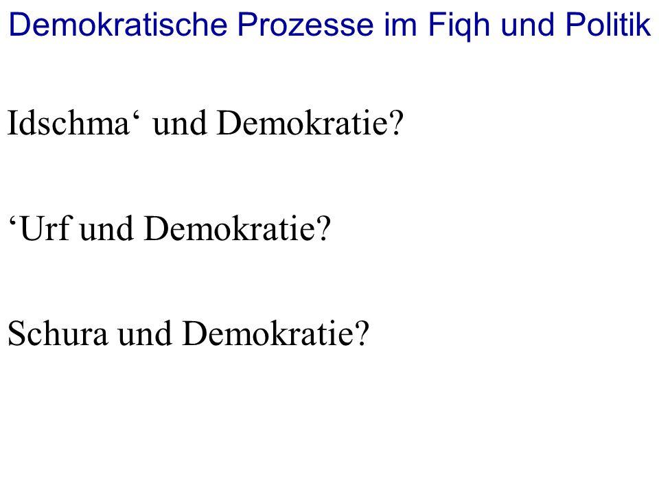 Demokratische Prozesse im Fiqh und Politik
