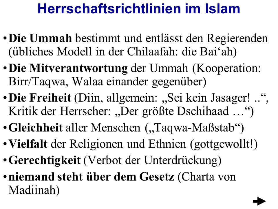 Herrschaftsrichtlinien im Islam