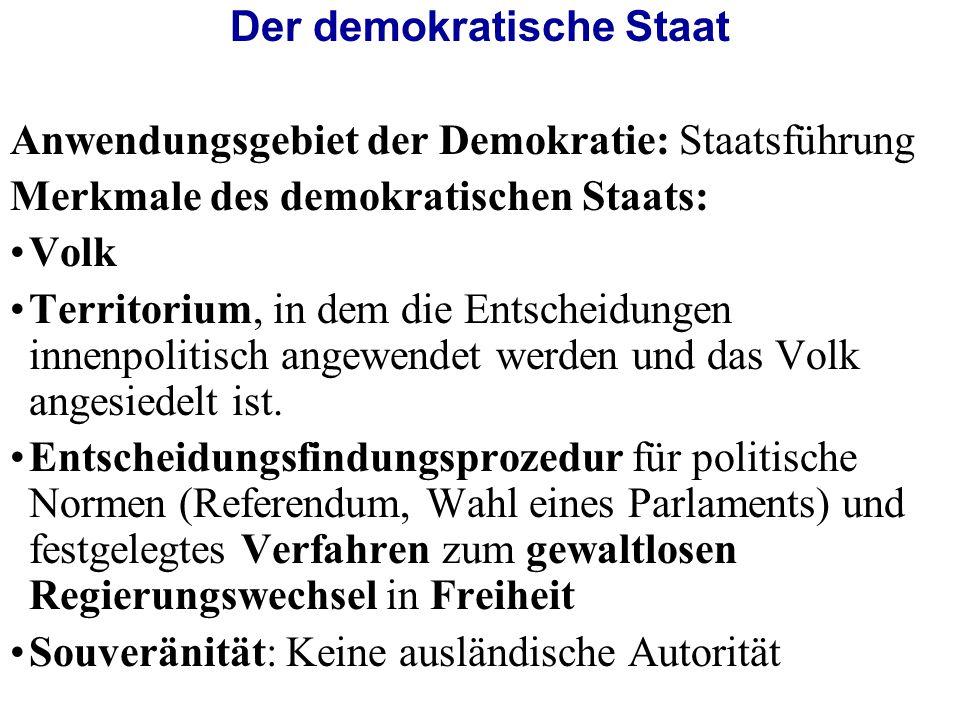Der demokratische Staat