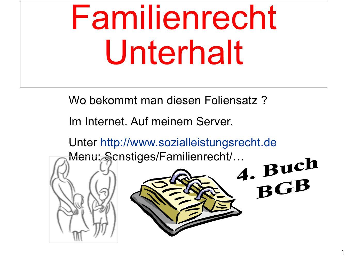 Familienrecht Unterhalt