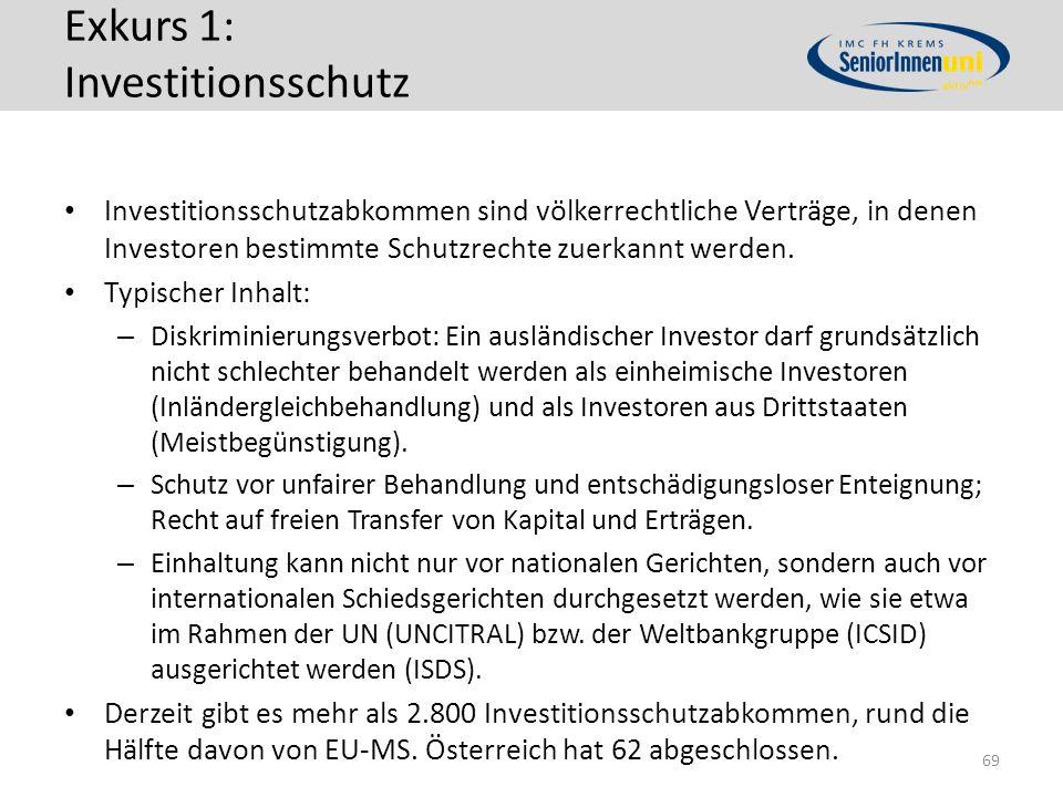 Exkurs 1: Investitionsschutz