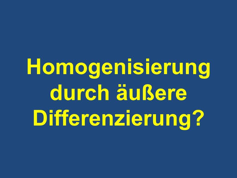 Homogenisierung durch äußere Differenzierung