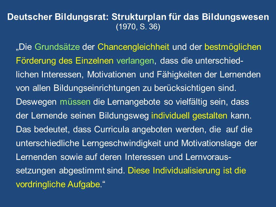 Deutscher Bildungsrat: Strukturplan für das Bildungswesen (1970, S. 36)