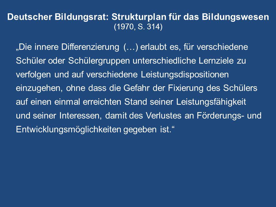Deutscher Bildungsrat: Strukturplan für das Bildungswesen (1970, S