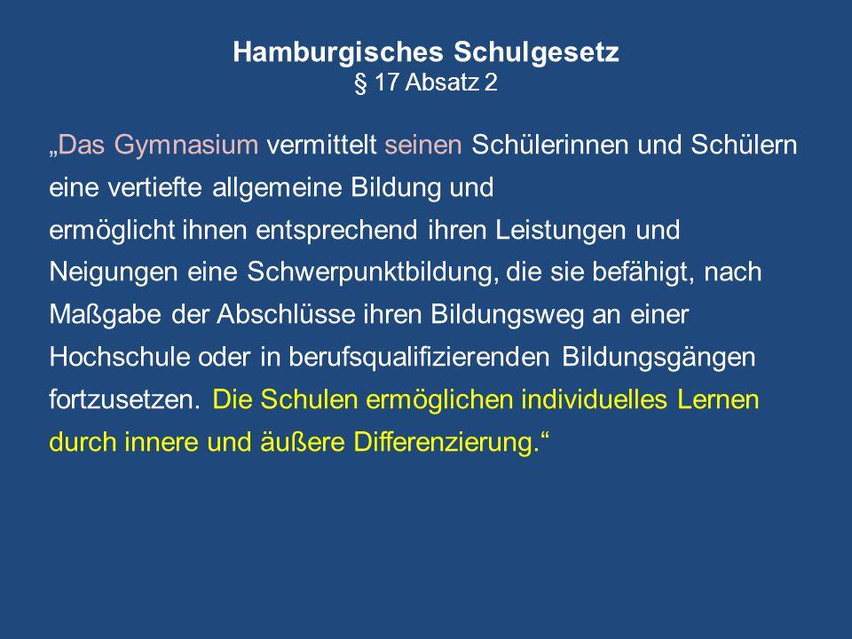 Hamburgisches Schulgesetz § 17 Absatz 2