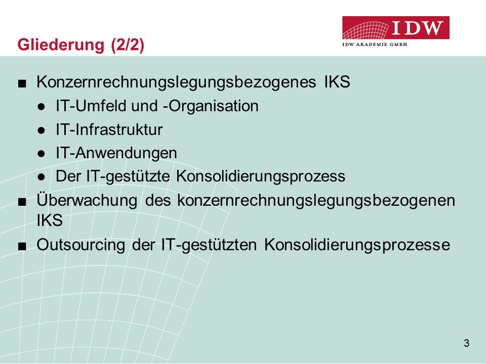 Konzernrechnungslegungsbezogenes IKS