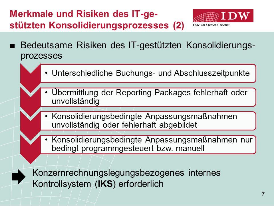 Merkmale und Risiken des IT-ge-stützten Konsolidierungsprozesses (2)