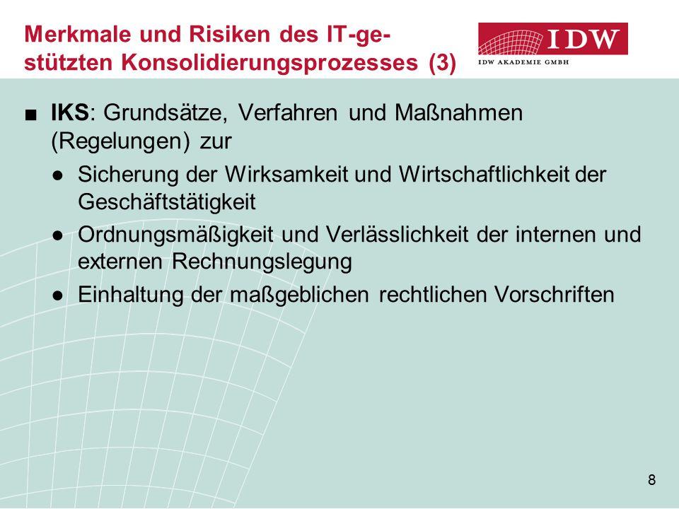 Merkmale und Risiken des IT-ge-stützten Konsolidierungsprozesses (3)