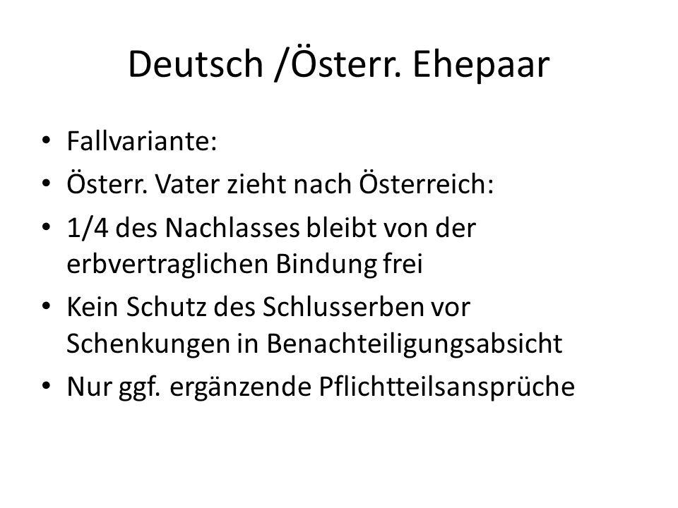 Deutsch /Österr. Ehepaar