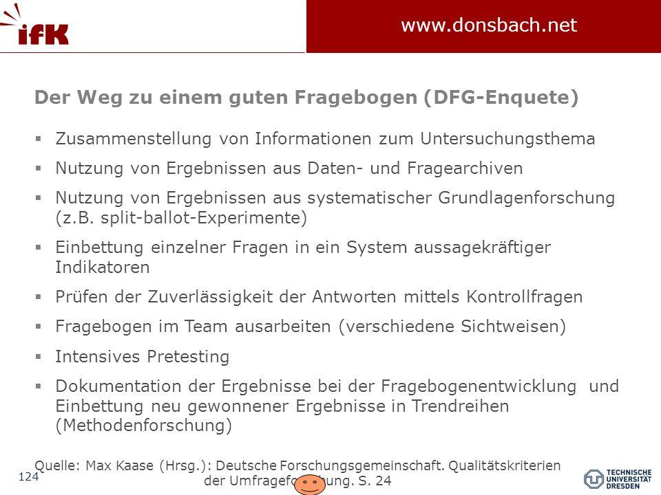 Der Weg zu einem guten Fragebogen (DFG-Enquete)