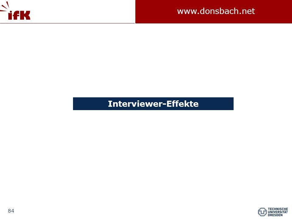 Interviewer-Effekte