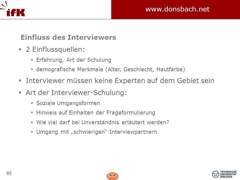 Einfluss des Interviewers