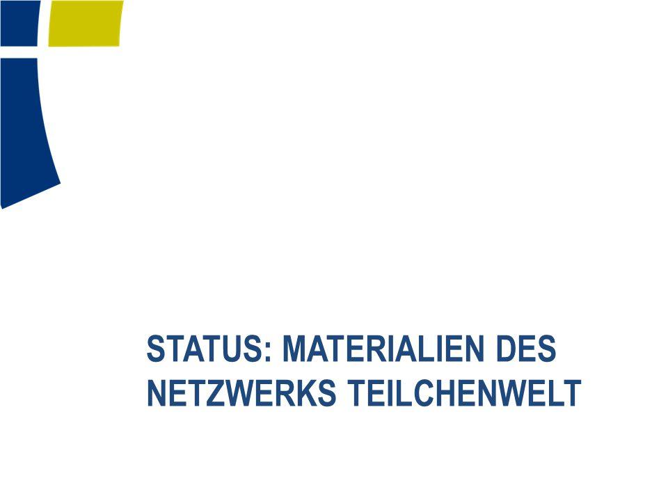 Status: Materialien des Netzwerks Teilchenwelt