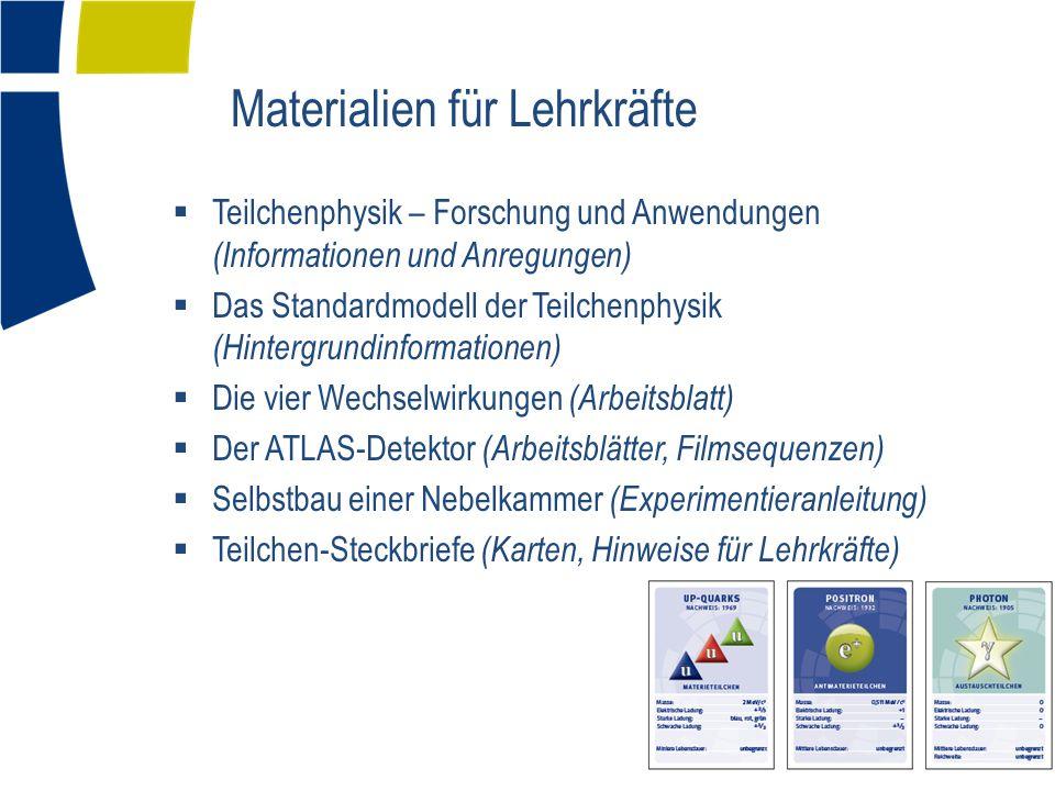 Materialien für Lehrkräfte