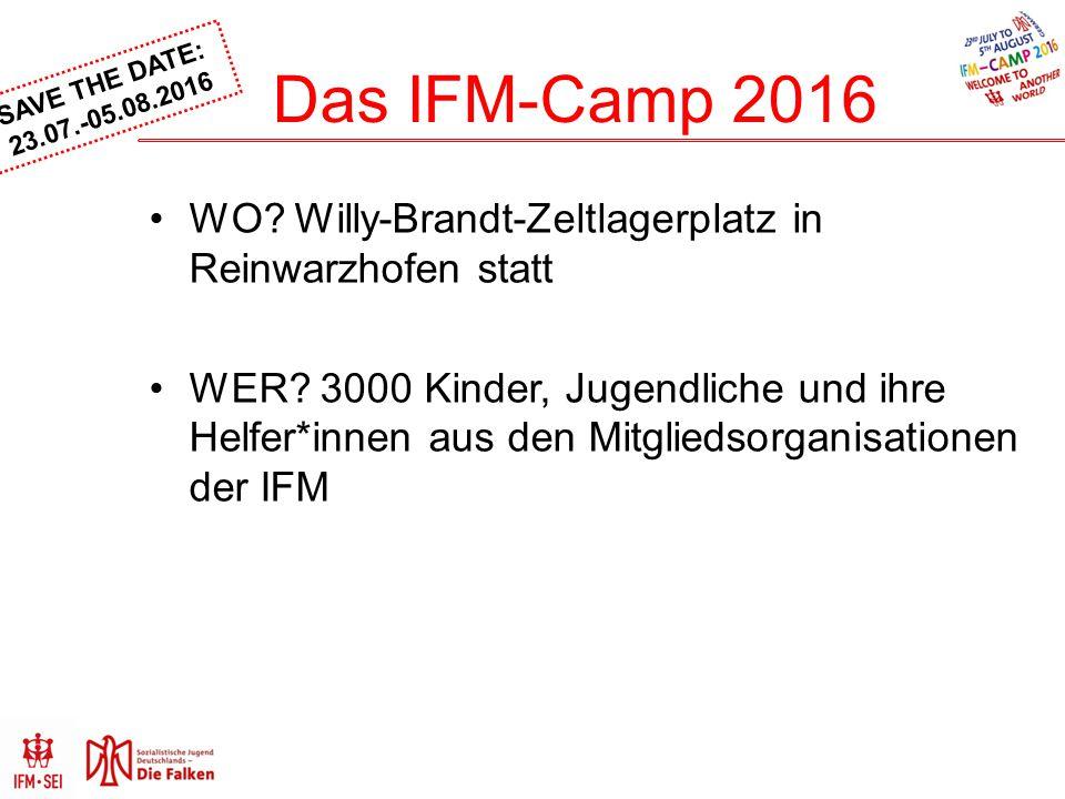 Das IFM-Camp 2016 WO Willy-Brandt-Zeltlagerplatz in Reinwarzhofen statt.
