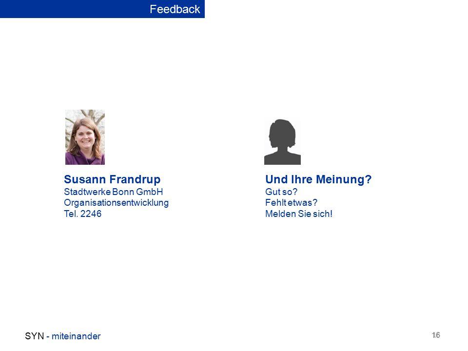 Susann Frandrup Stadtwerke Bonn GmbH