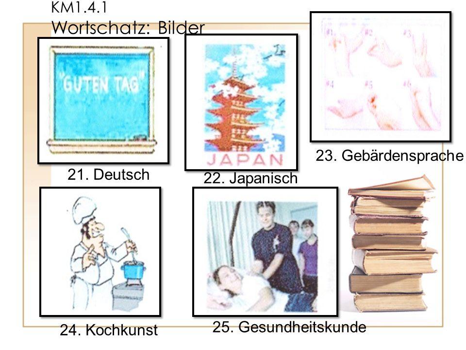 KM1.4.1 Wortschatz: Bilder 23. Gebärdensprache. 21.