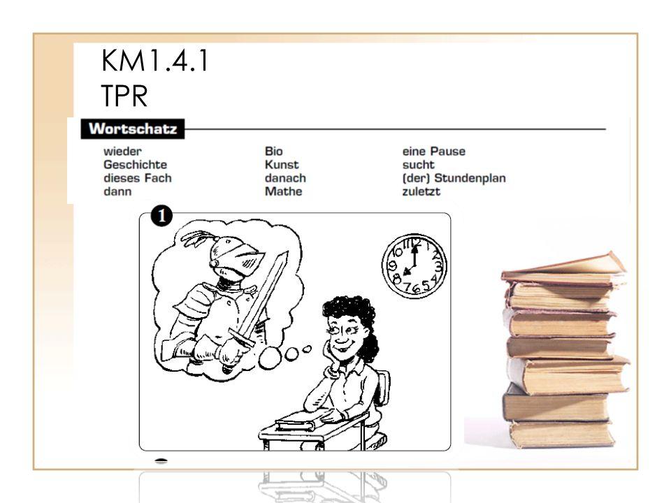 KM1.4.1 TPR Im Herbst geht Renate wieder zur Schule.