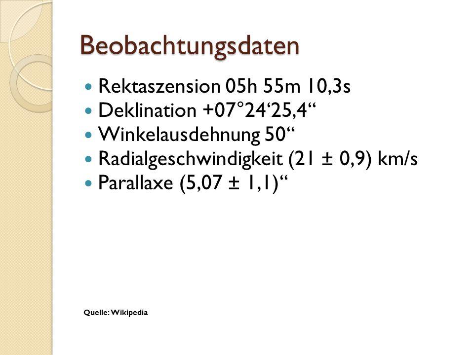 Beobachtungsdaten Rektaszension 05h 55m 10,3s