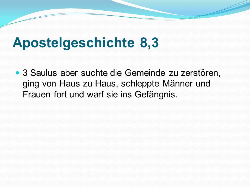 Apostelgeschichte 8,3