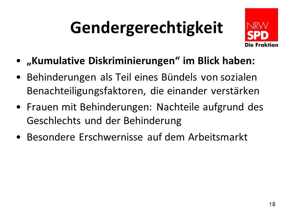 """Gendergerechtigkeit """"Kumulative Diskriminierungen im Blick haben:"""