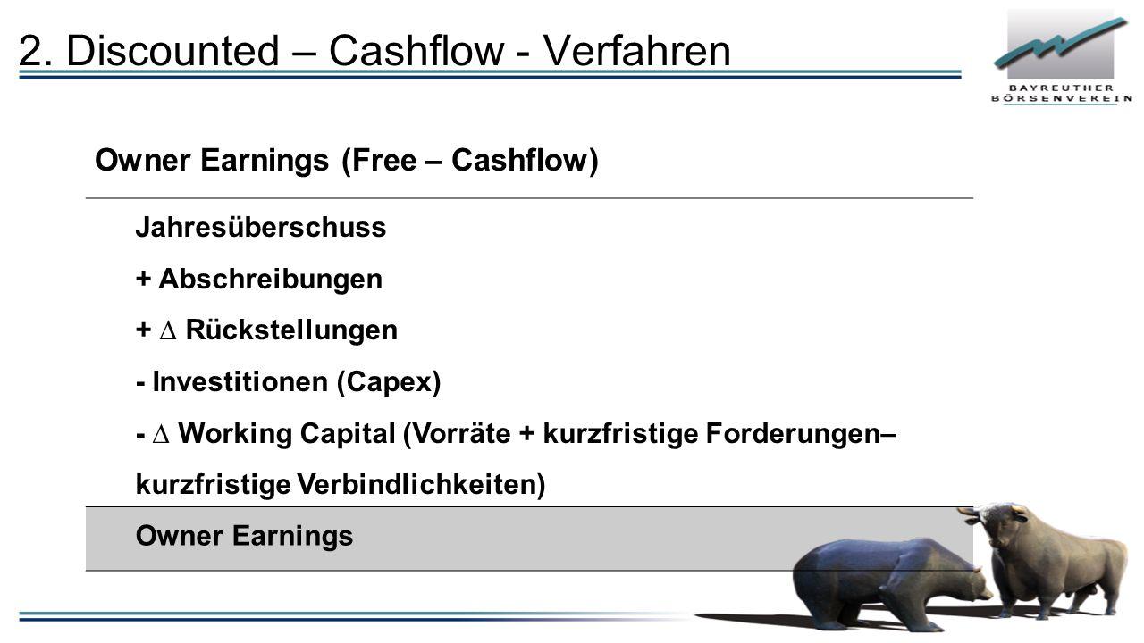 2. Discounted – Cashflow - Verfahren