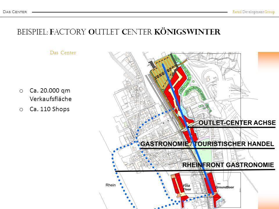 Beispiel: Factory Outlet Center Königswinter