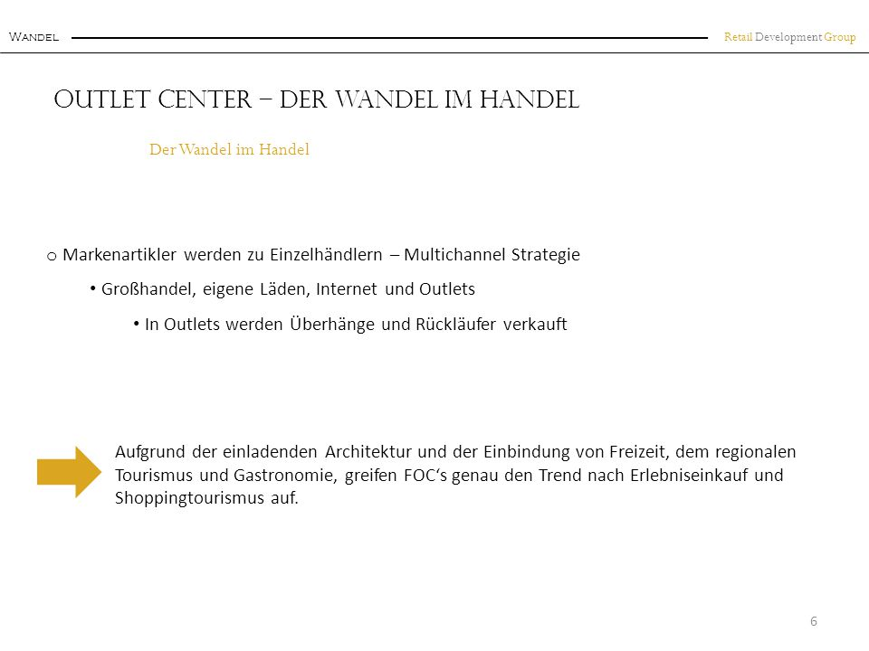 Outlet Center – Der Wandel im Handel