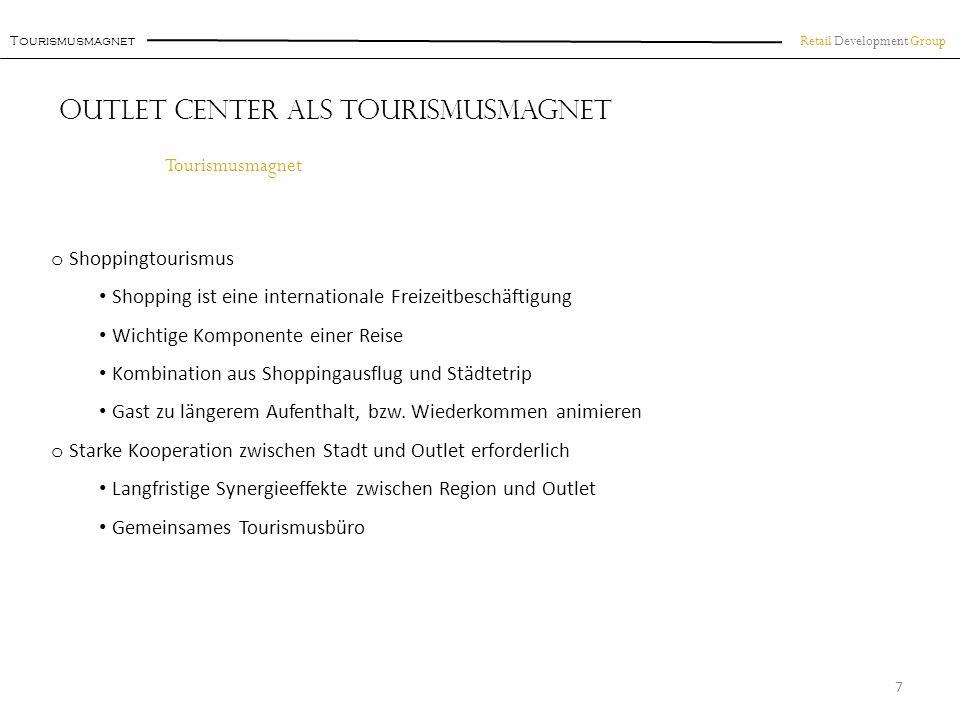 Outlet Center als Tourismusmagnet
