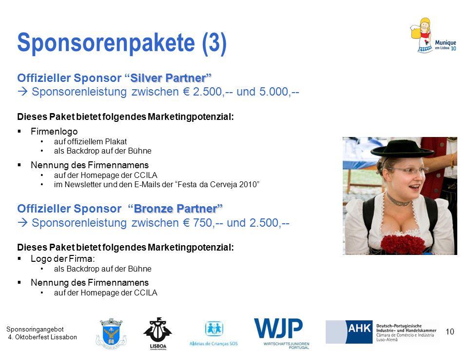 Sponsorenpakete (3) Offizieller Sponsor Silver Partner